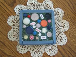 Finished button trivet.