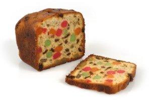 Fruit cake loaf.