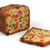 Fruit cake loaf.