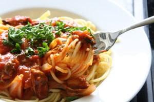a plate of spaghetti