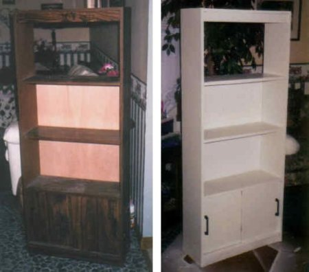 shelves before and after