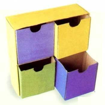 cardboard do-dad drawers