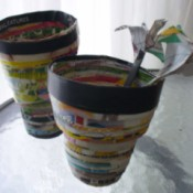 Recycled Paper Pot