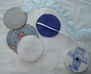 Fabric Can Lid Ornaments Supplies