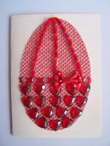 Tubular beads added in three rows.