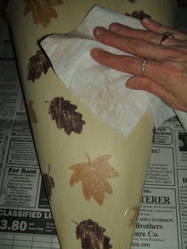 Wipe off dust from sanding.