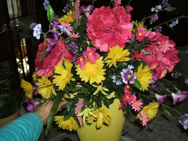 Closeup of final arrangement.