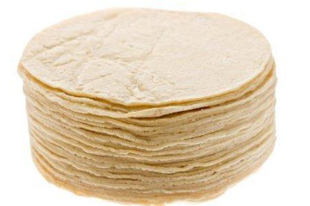 A stack of corn tortillas.
