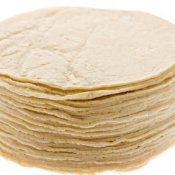 A stack of corn tortillas.