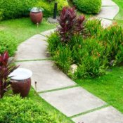 Garden Path Concrete Tiles
