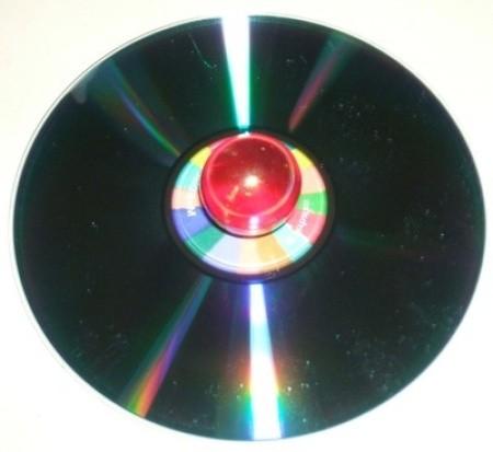 CD Spinner Bottom - shooter marble glued on back