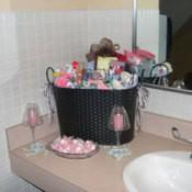 Wedding toiletry basket.
