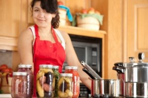 A Woman Canning