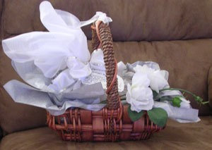 Bridesmaids gift basket.