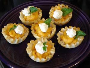 Mini pumpkin tarts.