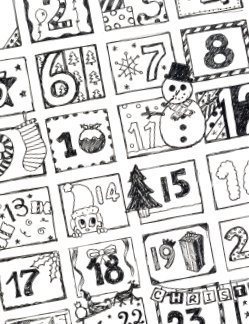 Printable advent calendars thriftyfun printable advent calendar saigontimesfo