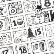 Printable advent calendar.