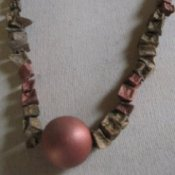 Potato bead necklace.