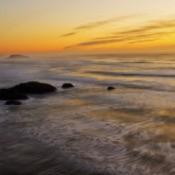 Sunset at Face Rock Wayside (Bandon, Oregon)