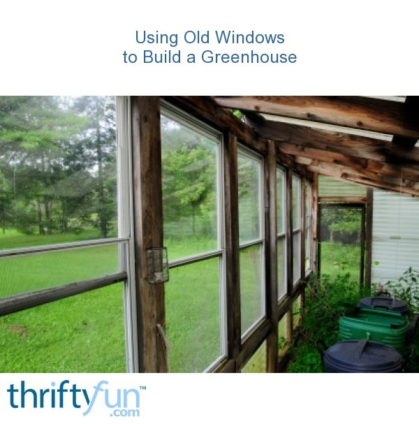 Using old windows to build a greenhouse thriftyfun for Build your own window