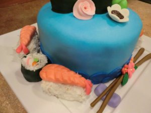 Sushi Cake side view