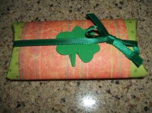 Finished gift tube.