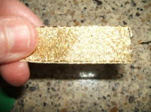 Leprechaun Hat Napkin Rings - Gold ribbon for buckle.
