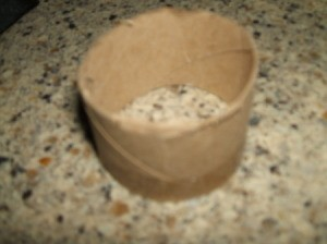 Leprechaun Hat Napkin Rings - Piece of tube for ring.