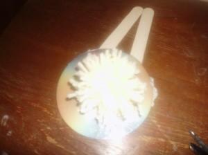 Recycled CD Pom Pom Maker - finished