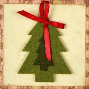 Handmade Christmas card.