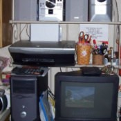 Using Baker's Rack for Computer Equipment