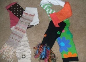 Recycle Sweaters into Scarves