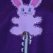 Construction paper bunny pencil.