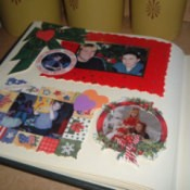 A holiday scrapbook page.