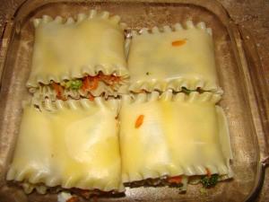Lasagna Rolls without Sauce