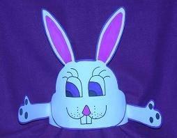 Paper bunny hat.
