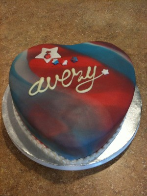 4th of July Heart Cake