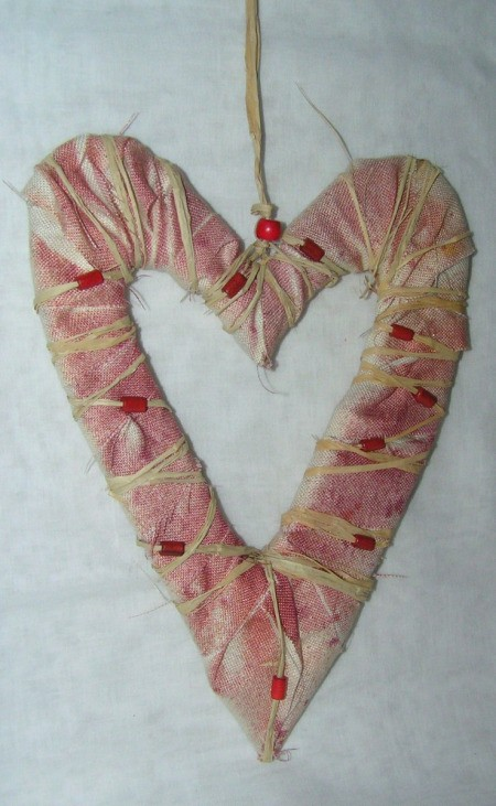 Finished rustic heart project.