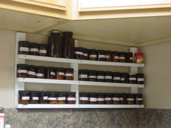 mounting a spice rack on your wall thriftyfun. Black Bedroom Furniture Sets. Home Design Ideas