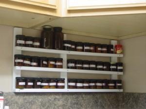 Spice Rack in Kitchen