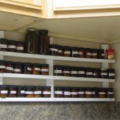 Spice Rack in Kitchen