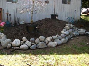 Garden Bed Rockery