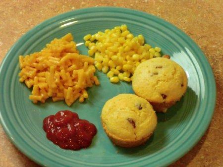 Finished Corn Dog Muffins