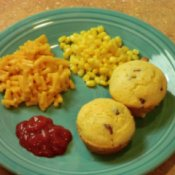 Finished Corn Dog Muffins