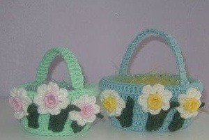 crocheted easter baskets