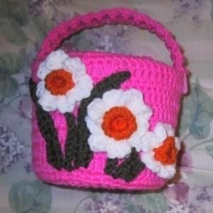 large crocheted easter basket