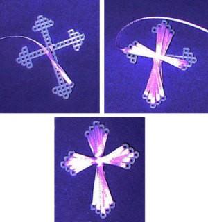 ribbon easter cross