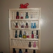 Popsicle Stick Shelf - final and hanging up