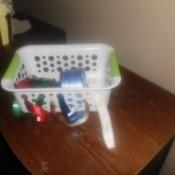 Store Ribbon In Basket