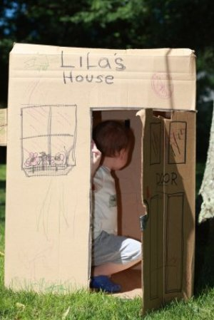 Making Cardboard Box Playhouses